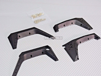 RC Scale JEEP Body Shell V3  FENDERS For WRANGLER RUBICON Hard Body V3