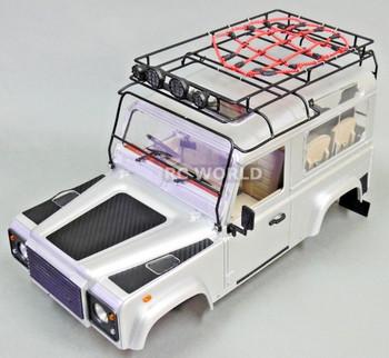 RC Truck  CARBON FIBER TRIM Kit For RC Land Rover Defender 90