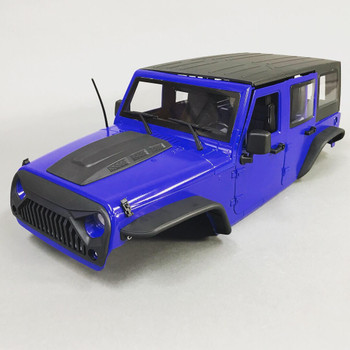 RC 1/10 Scale JEEP Body Shell BLACK  GRILL For WRANGLER RUBICON Hard Body