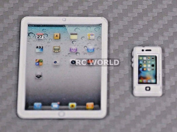 RC 1/10 Scale  ACCESSORIES METAL Toy APPLE , Phone, Tablet White