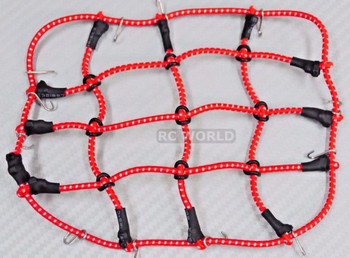 RC Truck Scale ROOF  Accessories BUNGEE CORD NET Cargo Net For Roof Rack BLACK