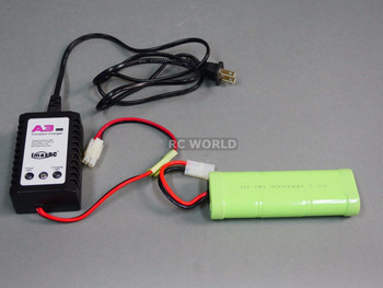 7.2V 3000MAH  6 Cell BATTERY PACK + Quick CHARGER For Axial SCX10