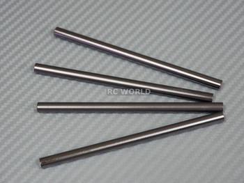 Axial SCX10 M3 Aluminum METAL RODS Trailing Arms 105mm x 6mm GUN METAL (4PCS)