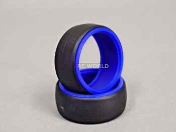 RC 1/10 DRIFT TIRE Package W/ COLOR RINGS - BLUE -