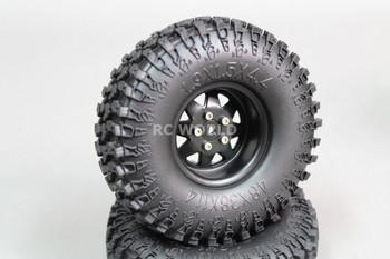 Scale RC Truck Metal 1.9 WHEELS RIMS Swamper Package W / Spare Wheel 115mm (5pc)