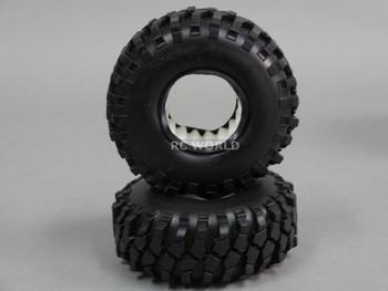 RC 1/10 Rubber TRUCK Tires KNOBBY SWAMPERS 1.9 ROCK CRAWLER Wheels 105mm W/ Foam