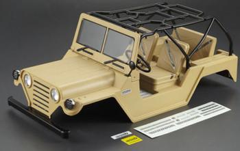 Killer Body RC Truck Body Shell 1/10 WARRIOR For SCX10 Crawler - PAINTED- Desert