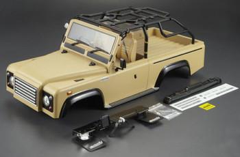 Scale RC Truck Body Shell 1/10 MARAUDER Rock Crawler SCX10 +SNORKLE - DESERT