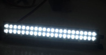 RC Scale Metal Roof Light Bar W/ LED Lights  Silver