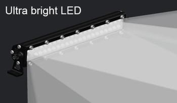RC Scale Metal Roof Light Bar W/ Powerful 44 LED Lights Black