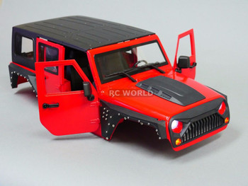 RC Scale Truck Body Shell 1/10 JEEP WRANGLER RUBICON Hard Body V 3