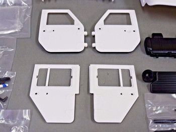 RC Scale Truck Body Shell 1/10 JEEP WRANGLER RUBICON Hard Body V2 w / ROLL BARS