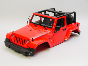 1/10 Jeep Wrangler Rubicon SWB 275MM 2 Door Hard Body RED