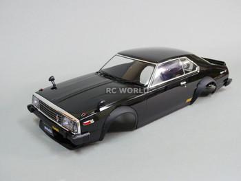 1/10 RC Car BODY Shell NISSAN SKYLINE HT 2000 190 mm *FINISHED* BLACK