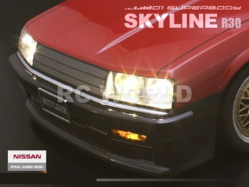 1/10 RC Car Body Shell NISSAN R30 TURBO 190 MM Shell w/ LIGHT BUCKETS