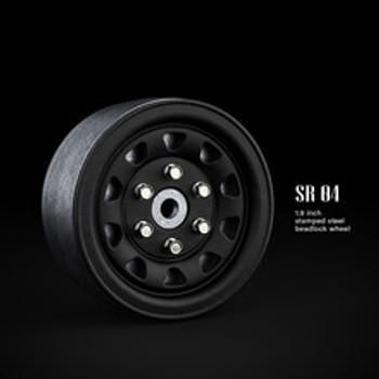 SR04 1.9inch beadlock wheels (Matt black) (2)