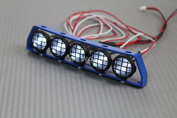 RC Scale Metal Roof Light Bar W/ LED Lights  Blue