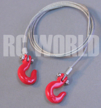 RC 1/10 Scale Accessories Steel Line Wire Tow Hooks