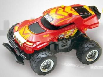 RC 1/58 Radio Control MICRO Truck BAJA RACER 4X2 w/ Suspension Red Baja