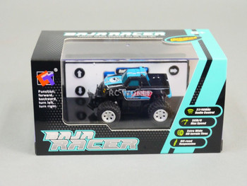 RC 1/58 Radio Control MICRO Truck BAJA RACER 4X2 w/ Suspension Blue Baja