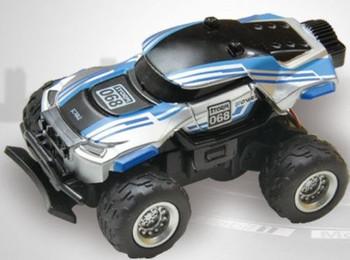 RC 1/58 Radio Control MICRO Truck BAJA RACER 4X2 w/ Suspension Blue Baja