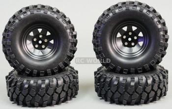 1/10 SCALE TRUCK RIMS 1.9 STEEL STAMPED Beadlock Wheels 105MM Big Treads