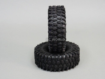1/10 SCALE TRUCK RIMS 1.9 STEEL STAMPED Beadlock Wheels 120MM Rock Tires BLACK