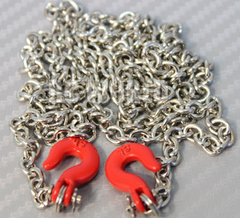 """RC 1/10 Scale Truck Accessories METAL CHAIN WITH HOOKS Tow Cable 36"""" Long !!"""