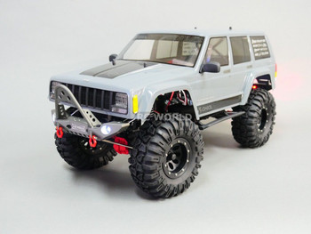 Axial JEEP CHEROKEE Scale METAL BUMPER SET Front + Rear W/ LED LIGHTS