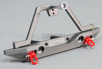 For Traxxas TRX-4 REAR METAL Bumper SWING ARM Spare Holder Aluminum LED GunMetal