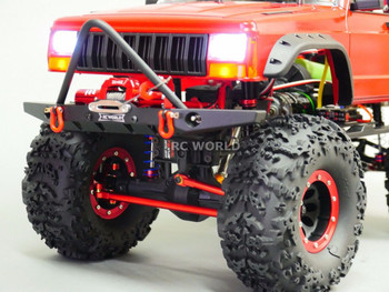 Traxxas TRX-4 Upgrade Front METAL BUMPER Bull Nose Lightweight W/ LED