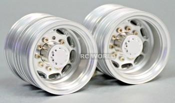 RC 1/14 Scale METAL Rear Dually Truck RIMS 47mm For Tamiya Semi Trucks (2PCS)
