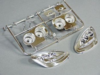 For 1/7 Traxxas XO-1 RC LIGHT BUCKETS For CHEVY CORVETTE Bodies Chrome Plated