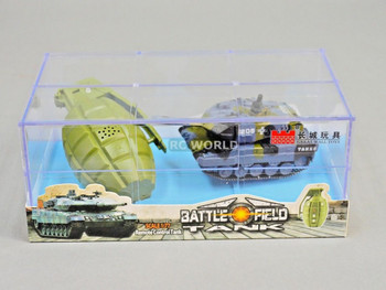 RC Micro TANK Mini Radio Control GERMAN LEOPARD 2A6 TANK W/ Sounds 2.4GHz -b