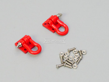 1/10 Scale Truck Accessories Metal Anchor Shackle Plate Red