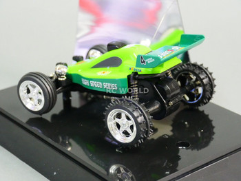 RC 1/52 Radio Control RC Micro Mini BUGGY Off-Road w/ LED Lights GREEN