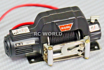 RC 1/10 Scale Truck WARN Winch ELECTRIC WINCH Metal BLACK