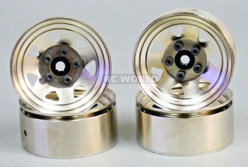 RC 1/10 Scale METAL STEEL STAMPED Truck Rims WheelS 1.9 (4 RIMS) SILVER
