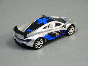 RC 1/43 Radio Control Micro MCLAREAN P1 GTR w/ LED Lights BLUE