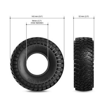 RC Rock Crawler tire 143mm Wheelbase