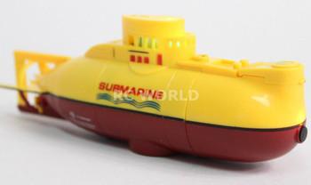RC Micro SUBMARINE Mini Rc U-Boat 3- Channel Radio Control SUBMARINE -YELLOW