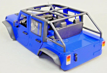 RC Scale JEEP Body Shell ROLL CAGE Roll BARS For Wrangler Rubicon Hard Body