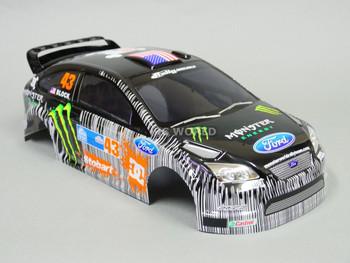 1/10 Body Shell Ford Focus Rally KEN BLOCK Monster Energy
