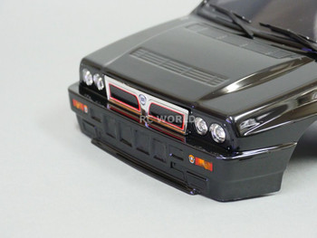 1/10 RC Car BODY Shell LANCIA DELTA HF Integrale BLACK 190mm *FINISHED