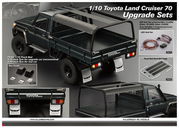 RC 1/10 Scale Metal TRUCK BED ROLL CAGE For Pick Up Trucks LC70 Land Cruiser