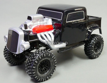 Axial SCX10 BODY SHELL 1/10 Monster HOT ROD Rock Crawler 313mm -PAINTED BLACK