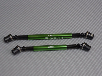 Axial SCX10 II 2 CARBON STEEL DRIVESHAFT Front + Rear GREEN 110MM + 130MM