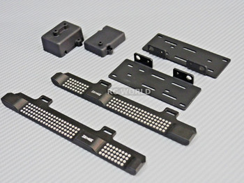 Axial SCX10 II Side Step Running Boards Guard Skids Black