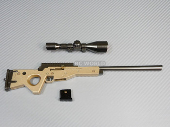 "1/6 Scale Accessories SNIPER RIFLE GUN Metal Gun Model 11"" LONG"