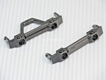Axial SCX10-2 UpGraded METAL BUMPER BRACKET MOUNTS Front + Rear Set